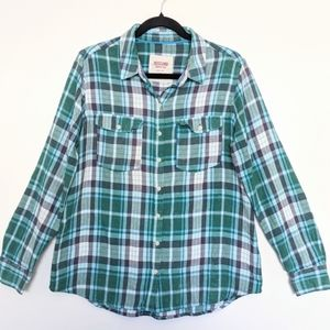 ☮️ Mossimo Plaid Long Sleeve Button Down Top